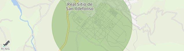Mapa San Ildefonso O La Granja