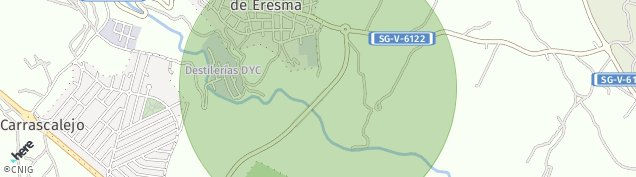 Mapa Palazuelos de Eresma