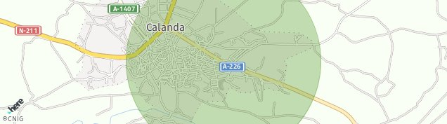 Mapa Calanda