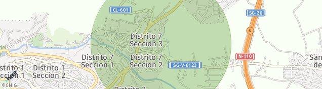 Mapa Segovia