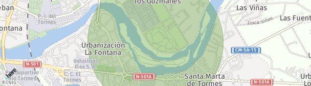 Mapa Santa Marta de Tormes