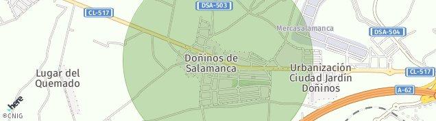 Mapa Doñinos de Salamanca