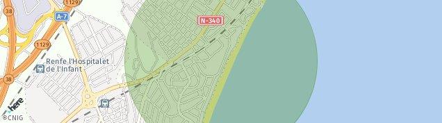 Mapa Miami-Platja