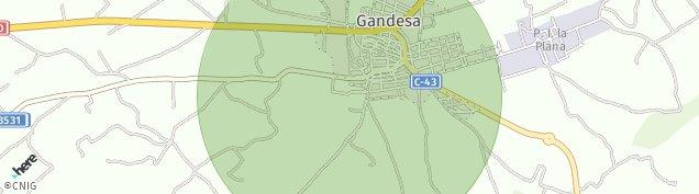 Mapa Gandesa