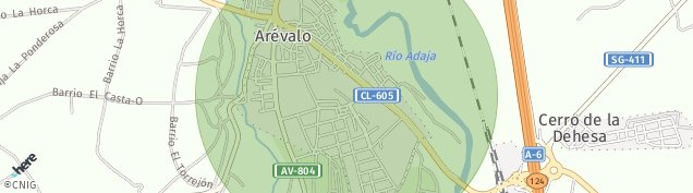 Mapa Arévalo