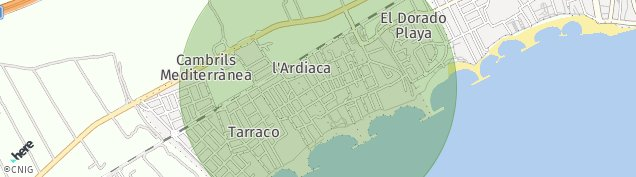 Mapa Camping Costa Blanca