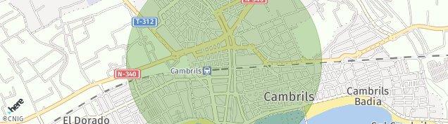 Mapa Cambrils