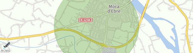 Mapa Móra d'Ebre