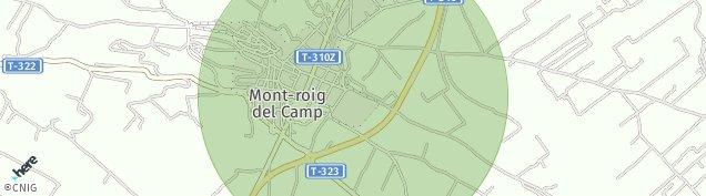 Mapa Mont-Roig del Camp
