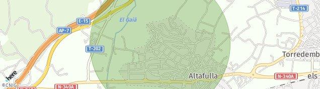 Mapa Altafulla