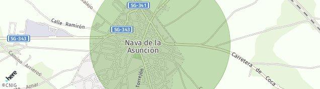 Mapa Nava de la Asunción