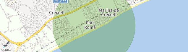 Mapa Creixell