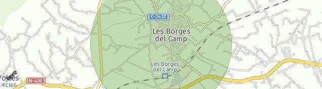 Mapa Les Borges del Camp