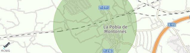Mapa La Pobla de Montornès