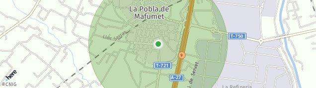 Mapa La Pobla de Mafumet