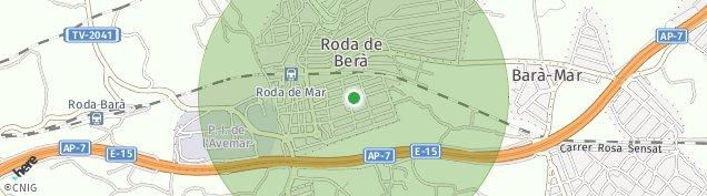 Mapa Roda de Berà
