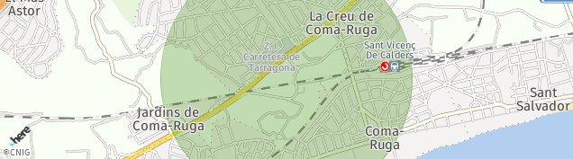 Mapa Coma-Ruga