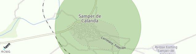 Mapa Samper de Calanda