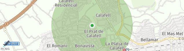 Mapa Calafell
