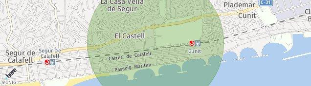 Mapa Cunit