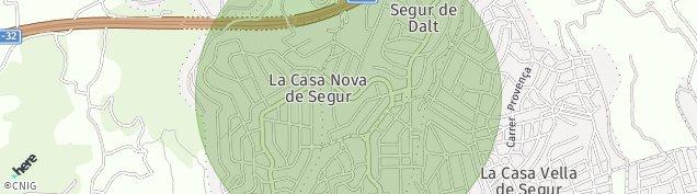 Mapa Segur de Calafell
