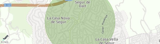 Mapa Cal Cego