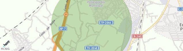 Mapa Sant Vicenç de Calders