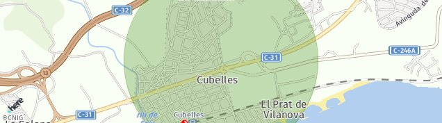 Mapa Cubelles