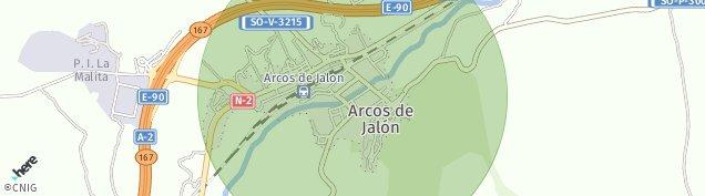 Mapa Arcos de Jalón