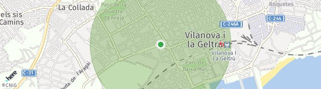 Mapa Vilanova i la Geltrú