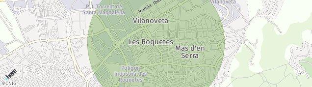Mapa Les Roquetes