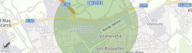 Mapa Vilanoveta