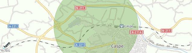 Mapa Caspe
