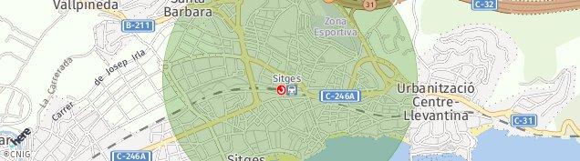 Mapa Sitges