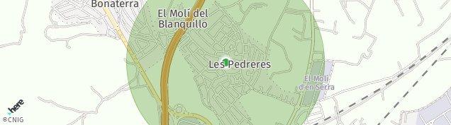 Mapa Urbanitzacio Les Pedreres