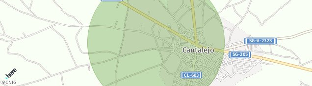 Mapa Cantalejo