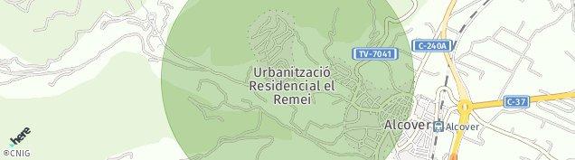 Mapa Alcover