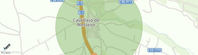 Mapa Castillejo de Mesleón
