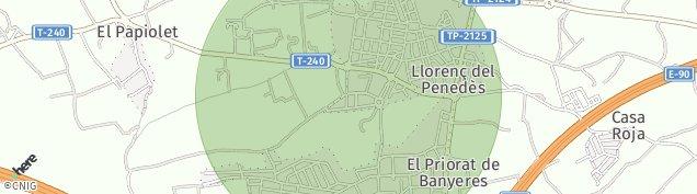 Mapa Llorenç del Penedès