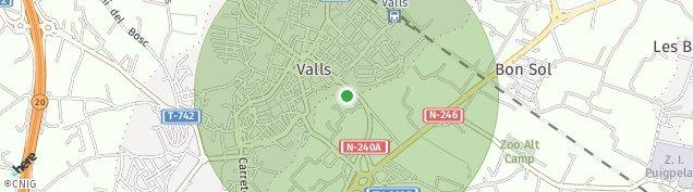 Mapa Valls