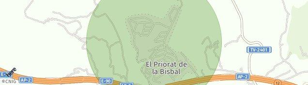 Mapa L' Ortigos