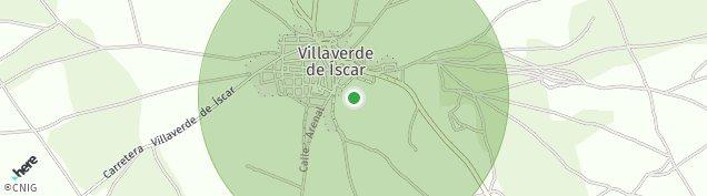 Mapa Villaverde de Íscar