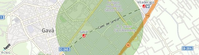 Mapa Gavà