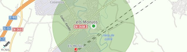 Mapa Santa Margarida i els Monjos