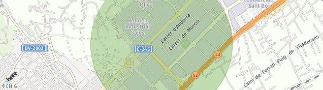 Mapa Sant Boi de Llobregat