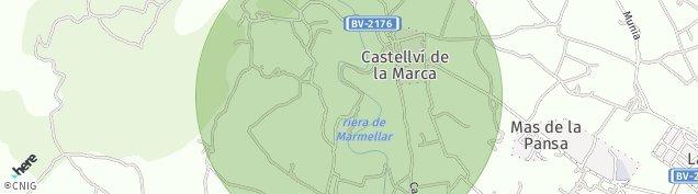 Mapa Castellví de la Marca