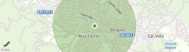Mapa Begues