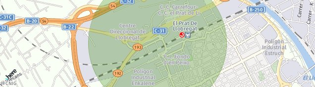 Mapa El Prat de Llobregat