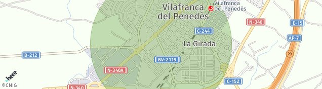 Mapa Vilafranca del Penedès