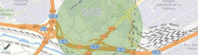 Mapa L'Hospitalet de Llobregat